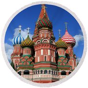 St. Basil's Cathedral Round Beach Towel