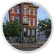 St. Charles Odd Fellows Hall Built In 1878 Dsc00810  Round Beach Towel