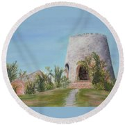 St. Croix Sugar Mill Round Beach Towel