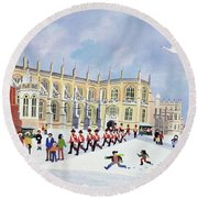 St. Georges Chapel, Windsor Round Beach Towel