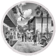 Round Beach Towel featuring the photograph St. Geroge Street by Howard Salmon