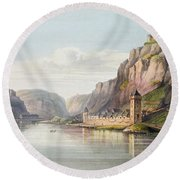 St. Goarshausen, St. Goar Round Beach Towel