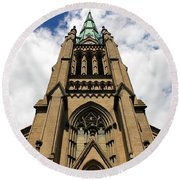 St. James Cathedral Round Beach Towel