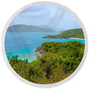 St John Beaches Round Beach Towel