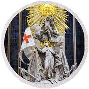 St. John Of Capistrano In Vienna Round Beach Towel