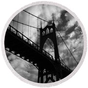 St Johns Bridge Round Beach Towel