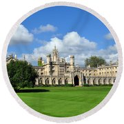St. John's College Cambridge Round Beach Towel