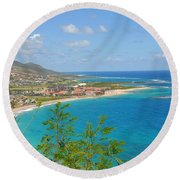 St. Kitts Round Beach Towel by Cindy Manero