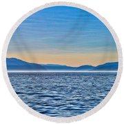 St. Lawrence Seaway Round Beach Towel by Bianca Nadeau