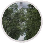 Round Beach Towel featuring the photograph St Louis Arch by Lynn Geoffroy
