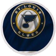 St Louis Blues Uniform Round Beach Towel