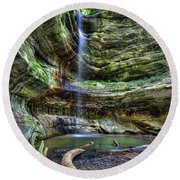 St Louis Canyon Round Beach Towel