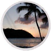 St. Lucian Sunset Round Beach Towel