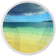 St. Maarten Tropical Paradise Round Beach Towel