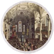 St Martins In The Fields Round Beach Towel