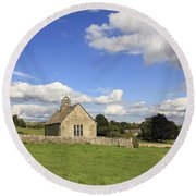 St Oswalds Chapel Oxfordshire Round Beach Towel