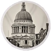 St Pauls London Round Beach Towel