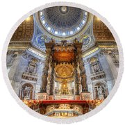 St Peter's Basilica Round Beach Towel