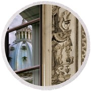 St Peter's Dome Reflected.rome Round Beach Towel