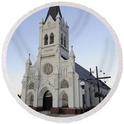 Round Beach Towel featuring the photograph St. Peter's by Fran Riley