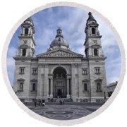 St Stephens Basilica Budapest Round Beach Towel