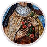 St. Theresa Mosaic Round Beach Towel