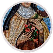 St. Theresa Mosaic Round Beach Towel