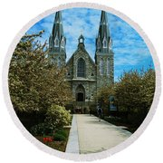 St Thomas Of Villanova Round Beach Towel