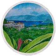 St. Thomas Virgin Islands Round Beach Towel