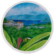 St. Thomas Virgin Islands Round Beach Towel by Frank Hunter