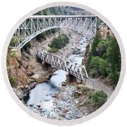 Stacked Bridges Round Beach Towel