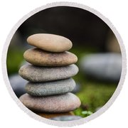 Stacked Stones B2 Round Beach Towel by Marco Oliveira