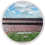 Stadium Panorama View Round Beach Towel