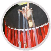 Round Beach Towel featuring the painting Stage Of Life   by Lazaro Hurtado