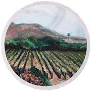 Stag's Leap Vineyard Round Beach Towel by Donna Tuten