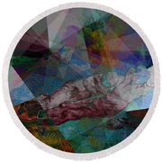 Stain Glass I Round Beach Towel by David Bridburg