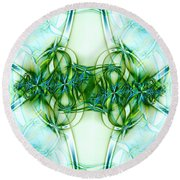 Stain Glass Round Beach Towel by Lena Auxier