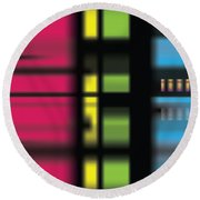 Round Beach Towel featuring the digital art Stainbow by Kevin McLaughlin