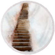 Stair Way To Heaven Round Beach Towel