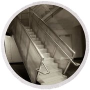 Stairs 01 Round Beach Towel