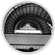 Round Beach Towel featuring the photograph Stairs by Andrea Anderegg