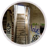 Stairway To Heaven? I Don't Think So... Round Beach Towel