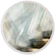Left Behind Round Beach Towel by Jennie Breeze
