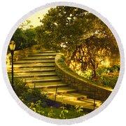 Stairway To Nirvana Round Beach Towel