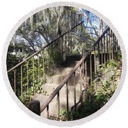 Stairway To Nowhere Round Beach Towel by Patricia Greer