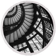 Stairwell The Rookery Chicago Il Round Beach Towel