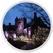 Stan Hywet Hall And Gardens Christmas  Round Beach Towel
