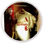 Stan The Man's Locker Stan Musial Round Beach Towel