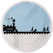 Stand By Me Round Beach Towel by Ayse Deniz