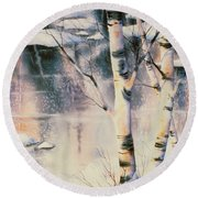 Stand Of Birch Round Beach Towel